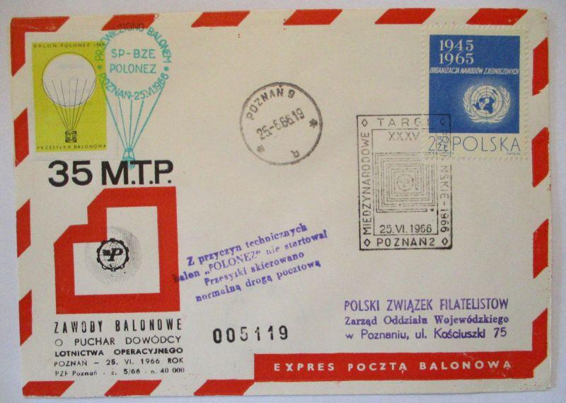 Polen, Ballonpost 1965 57485
