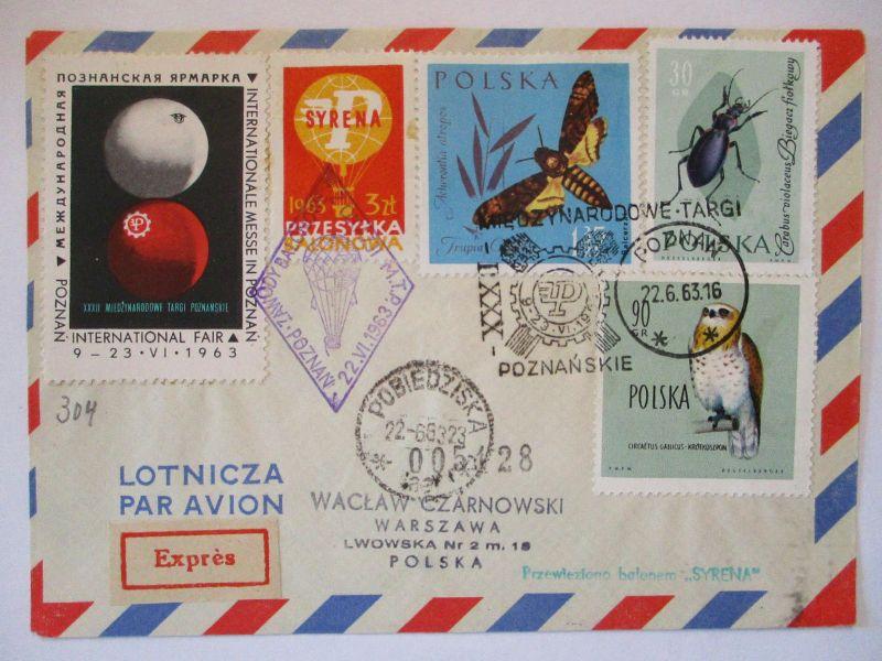 Polen, Ballonpost 1963 57477