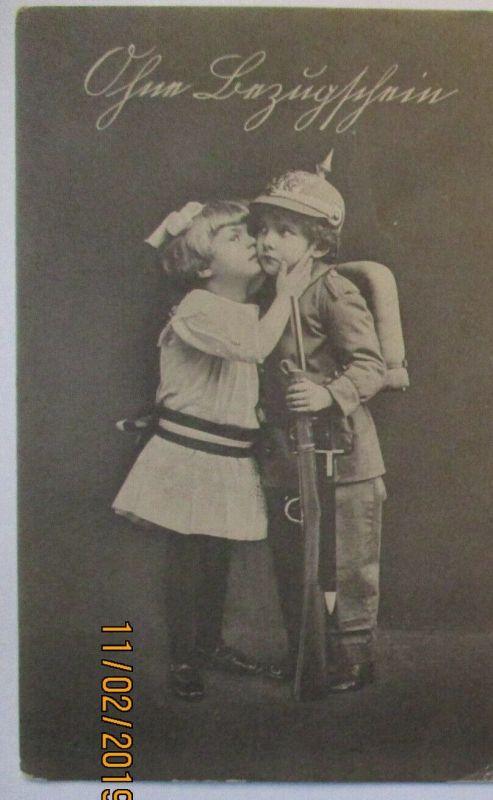 Kinder WW 1, Ohne Bezugschein 1917 Ortskarte Hainichen (28404)