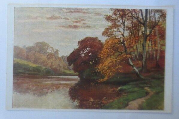 Künstlerkarte, Herbstabend 1920, Meissner & Buch, Müller Kurzwelly ♥ (28914)