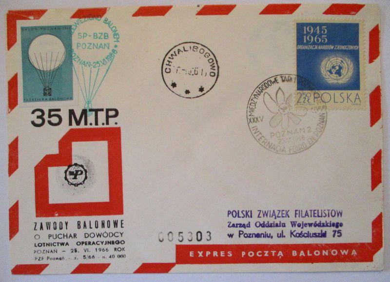 Polen, Ballonpost 1965 57486