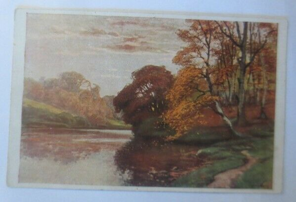 Künstlerkarte, Herbstabend, 1920, Meissner & Buch, Müller Kurzwelly ♥ (27357)