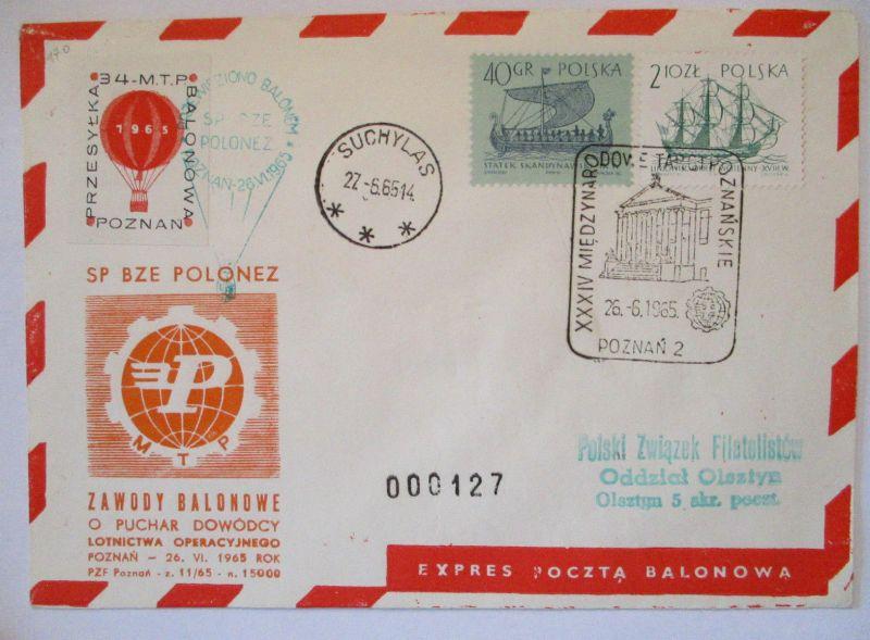 Polen, Ballonpost 1965 57484