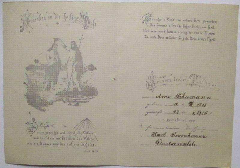 Finsterwalde 1913 Andenken an die heilige Taufe (72467)