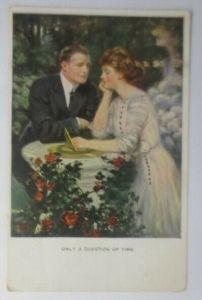 Künstlerkarte, Frauen, Männer, Mode, Treffen, 1910, Munk Vienne  ♥ (20610)