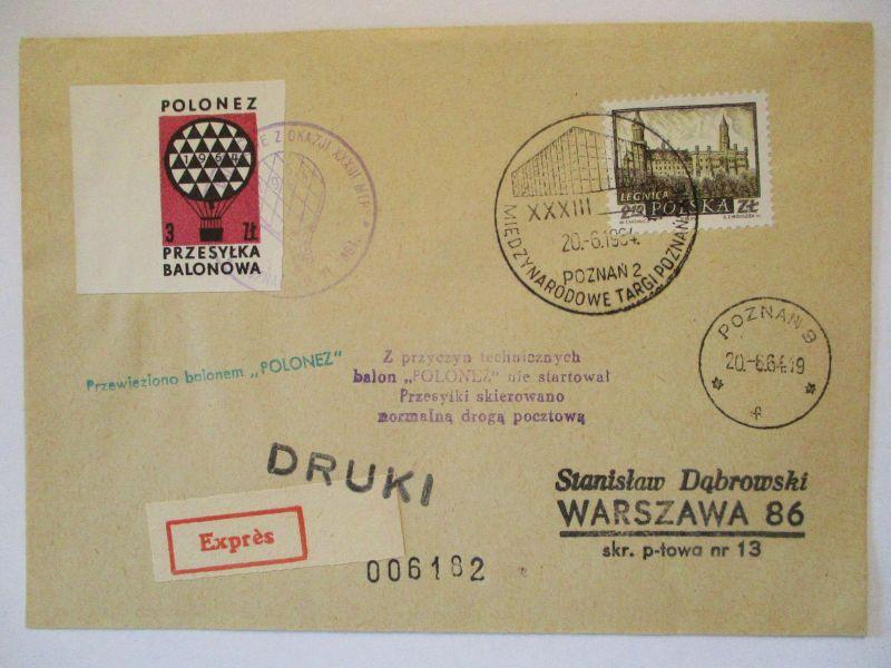 Polen, Ballonpost 1964  57482