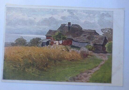 Künstlerkarte, Bauernhof am Meeresstrand 1920, Meissner & Buch ♥ (27346)