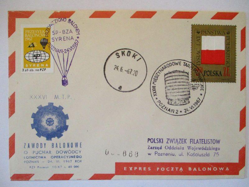 Polen, Ballonpost 1967 57476