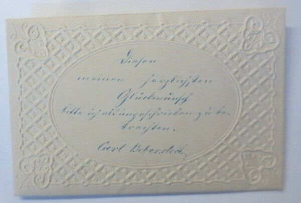 Zierbriefbogen  Prägedruck mit Duftkissen  1880 ♥ (19187)