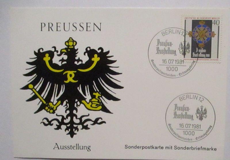 Berlin Wappen Preußen Ausstellung 1981 Sonderkarte (72466)