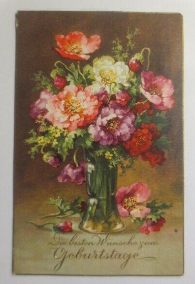 Geburtstag, Blumen, Vase, 1932  ♥ (36629)