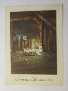 Weihnachten, Engel, Jesus, Krippe, 1953  ♥ (57685)