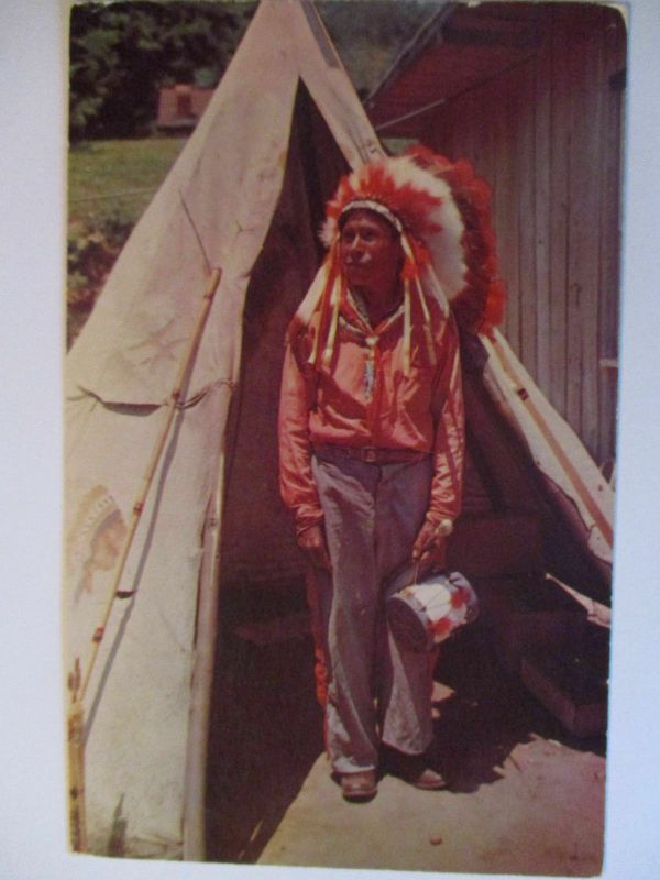 Indianer, Cherokee Häuptling, North Carolina, ca. 1960