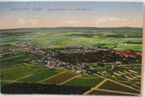 Lockstedter Lager, Ansicht vom Luftschiff aus, Feldpost 1916 (6311)