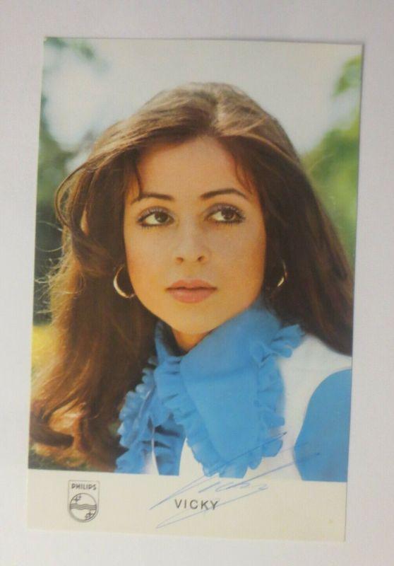Autogramm Vicky Leandros  Autogrammkarte Original Unterschrift ♥ (57874)