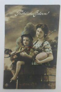 Ostern, Kinder, Frauen,  Mode, Ostereier, Huhn,  1912 ♥