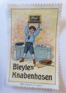 Reklamemarken, Bleyle´s  Knabenhosen Stuttgart 1910 ♥ (26993)
