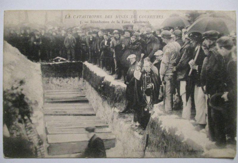 Bergbau Grubenunglück von Courrières 1906, La Catastrophe, Beerdigung