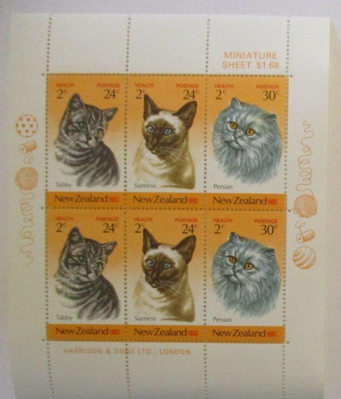 Neuseeland 878-880 Katzen Kleinbogen postfrisch (57459)