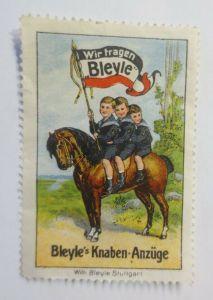 Reklamemarken Bleyle Knaben Anzüge Stuttgart 1910 ♥ (54225)