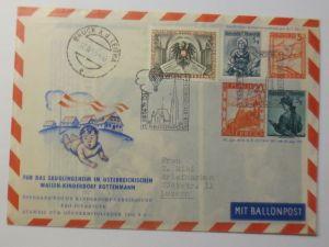 Österreich Ganzsache 13.Ballonpost Wien 1955  ZF Kinderdorf Reklame ♥(72836)
