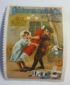 Reklamemarken  Gütermann & Co Nähseide Breisgau 1910 ♥ (17253)