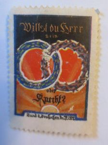Vignetten, Willst du Herr sein oder Knecht, 1914 ♥ (532)