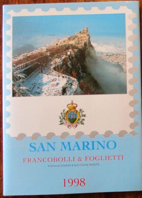 San Marino Jahrgang 1998 postfrisch komplett Jahresmappe