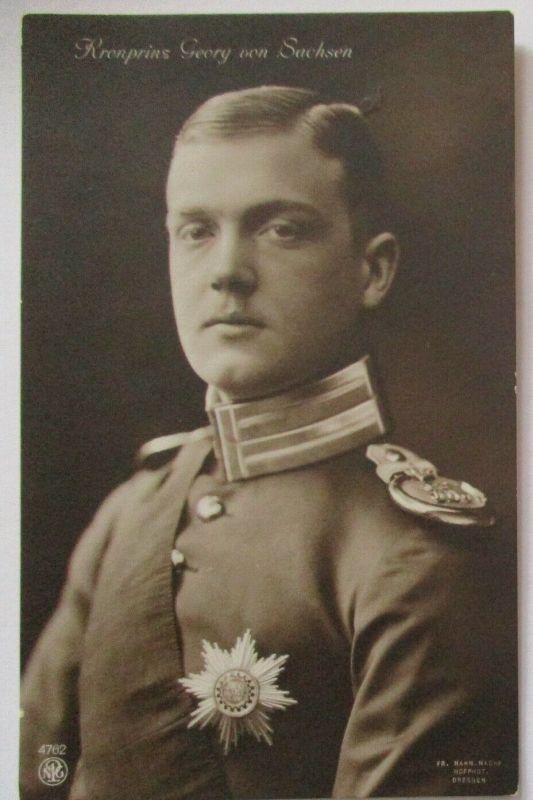 Adel Kronprinz Georg von Sachsen Fotokarte (49437)