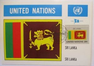 UNO Flaggen Maximumkarte 1981 Sri Lanka (32236)
