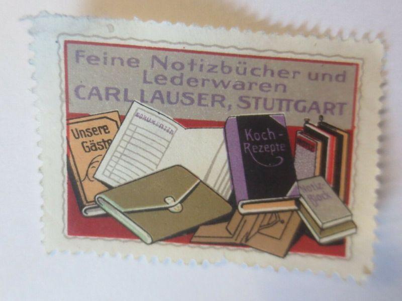 Reklamemarken, Notizbücher Lederwaren Carl Lauser Stuttgart  1910 ♥ (24223)