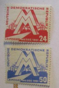 DDR 282-283 Leipziger Messe 1951 postfrisch komplett (26999)
