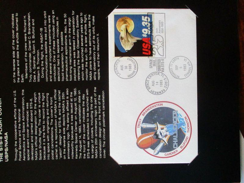USA Space Shuttle Challenger STS-8 Flight Cover 9$35 im Folder