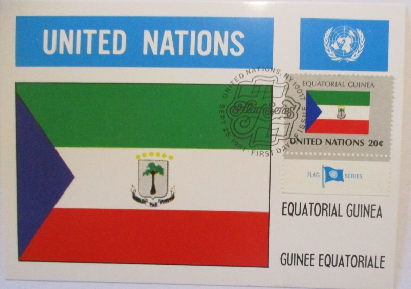 UNO Flaggen Maximumkarte 1981 Equatorial Guinea (19482)