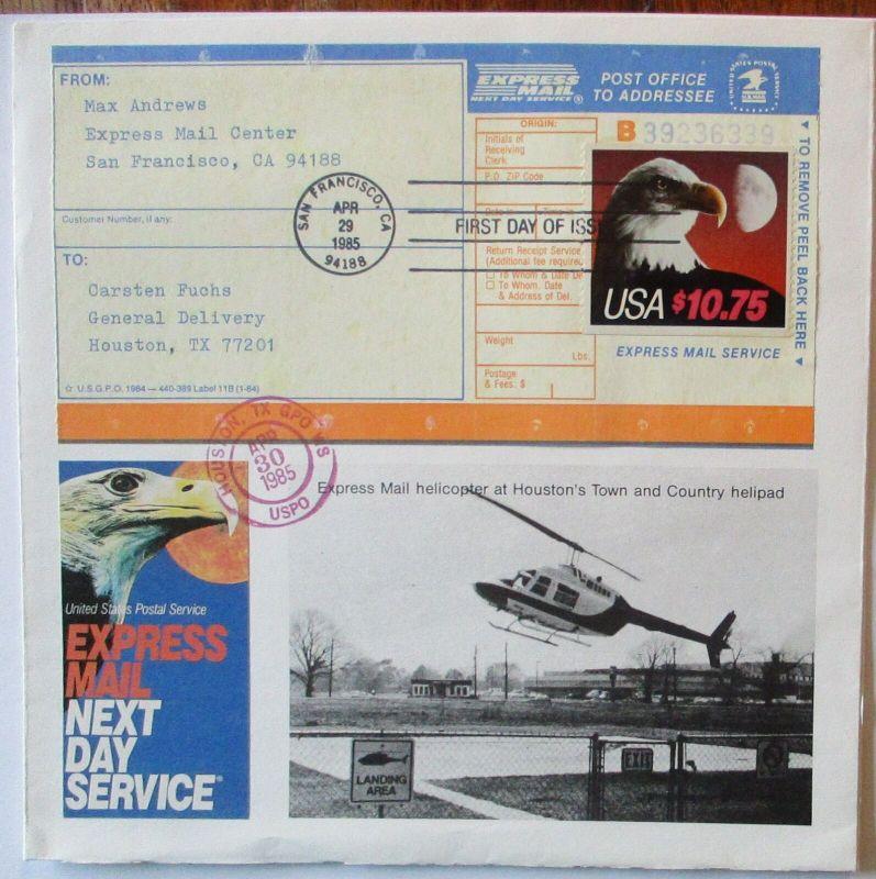 USA Express Mail Service 10$35 FDC echt gelaufen