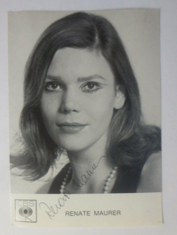 Autogramm Renate Maurer Autogrammkarte Original Unterschrift  ♥ (57881)