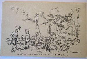 Kinder WW 1, Poulbot Nr.9, Kinder im Gemüsebeet, 1915 ♥  (44671)