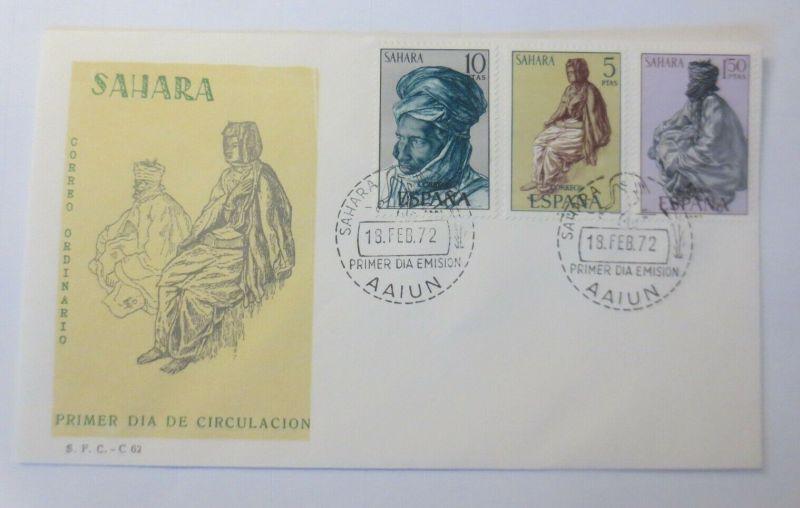 Spanien FDC  Sahara Gemälde von Bewohnern der Sahara 1972 ♥ (287)