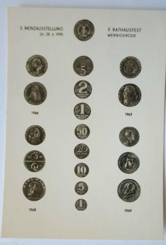 DDR, Münzen, Ausstellung Wernigerode 1970 (28806)