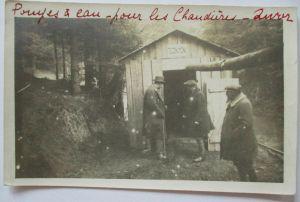 Rußland-Polen, Haus im Wald, Fotokarte mit Text (39445)