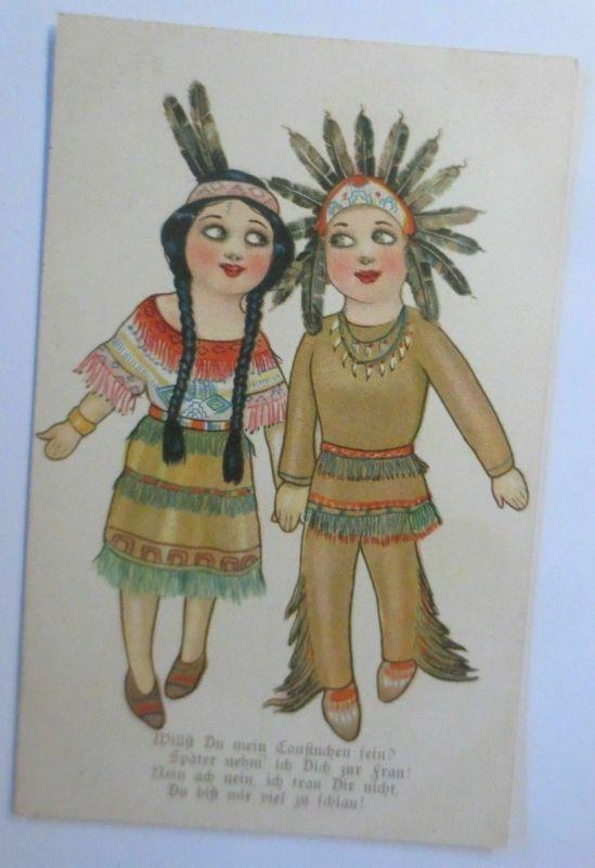 Kinder, Indianer,   1930 ♥