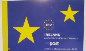 Irland 1992 Europäischer Binnenmarkt Markenheftchen 810 MH postfrisch (57584)