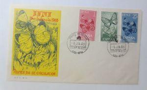 Spanien FDC  Ifni Brief Schmetterlinge Primer dia de Circulation 1963 ♥ (72433)