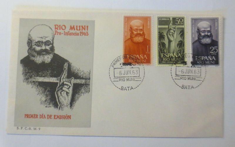 Spanien FDC Rio Muni Pro-Infancia 1963 ♥ (57502)