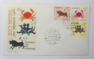Spanien FDC Rio Muni Sternzeichen  Primer dia de Emision  1968 ♥ (57230)