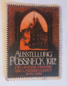Vignetten, Ausstellung Pössneck  1912 ♥ (22908)