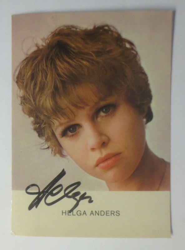 Autogramm Helga Anders  Autogrammkarte Original Unterschrift ♥ (57871)