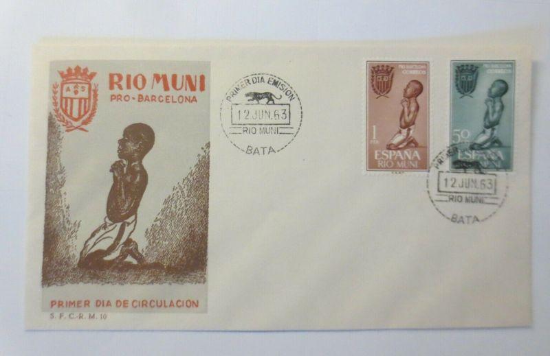 Spanien FDC Rio Muni Pro-Barcelona  1963 ♥ (19284)