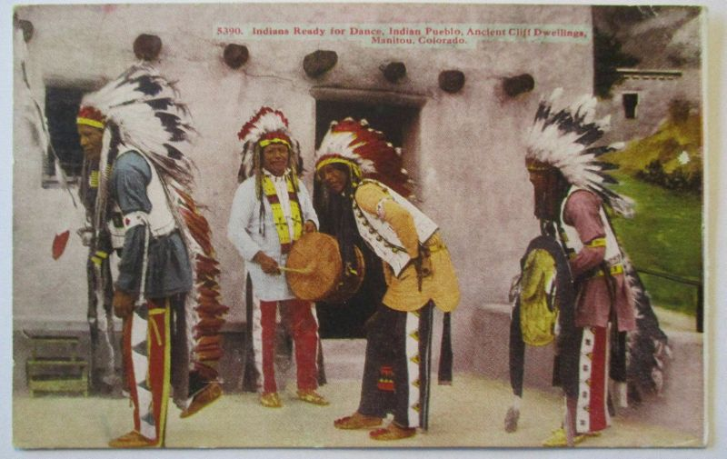 Indianer USA, Manitou Colorado, Ready for Dance