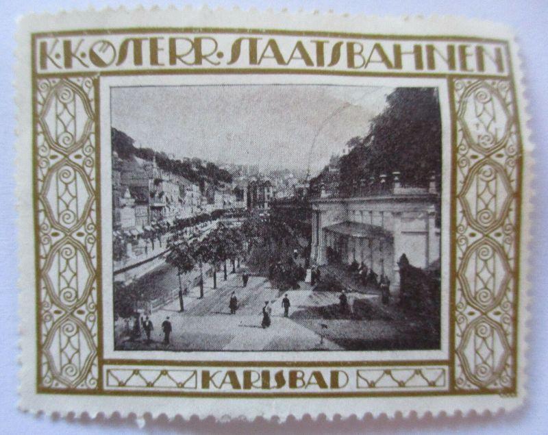 Österreich, KuK Staatsbahnen, Vignette Karlsbad ca.1910 (14592)